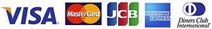 VISA MASTER JCB AMERICAN EXPRESS Diners Club International